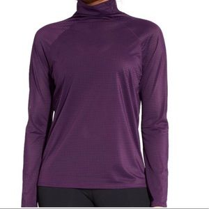 CALIA   Long Sleeve Mesh Perforated Athletic Top L